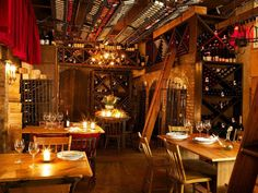 This is Il Buco, one of the most romantic restaurants in NYC.