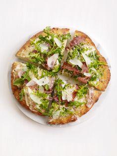 Arugula-Prosciutto Pizza Recipe : Food Network Kitchens : Food Network - FoodNetwork.com