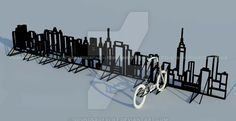 Bike rack by SoundsxOfxLife