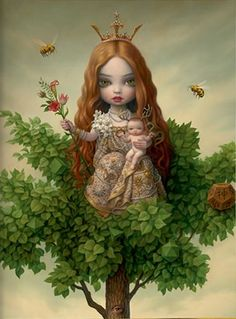 Art big head conceptual detail illustration mark ryden I love your Mark Ryden, Lowbrow Art, Art Graphique, Surreal Art, Big Eyes, Fantasy Art, Book Art, Pop Culture, Viajes