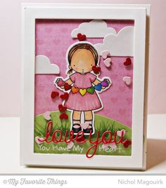 Heart Banner stamp set and Die-namics, Tiny Hearts Background, Love and Adore You Die-namics - Nichol Magouirk #mftstamps
