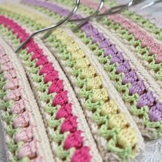 @ byHaafner: crochet hanger - free pattern, tulips, pastel