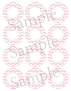 Printable editable chevron label -- blank for your editing~