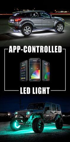 LED car lighting for any mood and color.