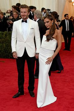 Victoria and David Beckham #MetGala