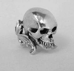 Large Sterling Silver Skull Ring