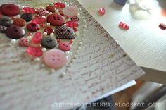 Cartão artesanal com coração de botões #PAP #DIY #Tutorial #papercraft #cardmaking