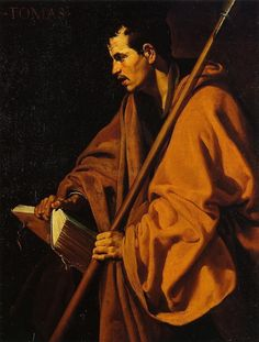 Diego Velasquez [Spanish Baroque Era Painter, 1599-1660] Saint Thomas, nd