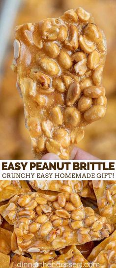 Peanut Brittle is the PERFECT party dessert made with butter peanuts and corn syrup its sweet crunchy and ready in under 60 minutes Easy Peanut Brittle Recipe, Homemade Peanut Brittle, Brittle Recipes, Köstliche Desserts, Holiday Desserts, Holiday Recipes, Delicious Desserts, Dessert Recipes, Candy Recipes