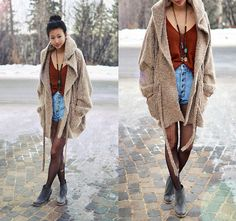 i'm always cold so this would work. plus, it's super cute. love oversized.
