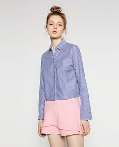 Image 1 of MINI SKIRT WITH FRILL from Zara