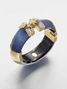 Alexis Bittar Embellished Lucite Bangle Bracelet #saksExclusive