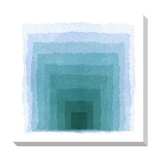 Blue Gradient Square Oversized Gallery Wrapped Canvas | Overstock.com