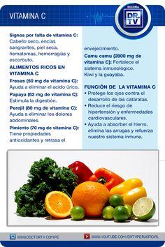 ¿Sabía que existe una vitamina que puede ser una gran aliada para prevenir enfermedades? Recodermos los beneficios de la vitamina C y en qué alimentos podemos encontrarla.