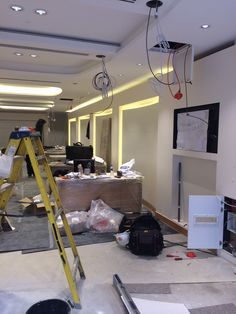 During construction of Trailfinders Travel Agents in Cardiff - Designed by Lustedgreen - www.lustedgreen.com