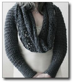 Solid Scarf With Sleeve Crochet. Need to translate pattern