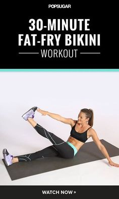 All the exercises in this video workout target the trouble zones while keeping your heart rate up to burn fat.