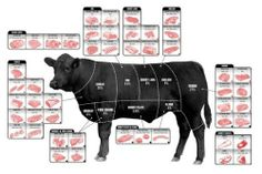Beef Cuts Of Meat Butcher Chart Mini poster 28cmx43cm 11inx17in by posters, http://www.amazon.co.uk/dp/B00IHOEF0W/ref=cm_sw_r_pi_dp_b4Lhtb1EZK4PF