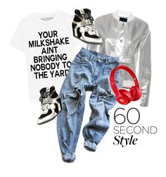 """""""60 Second Style"""" by cara-mia-mon-cher ❤ liked on Polyvore featuring Levi's, Beats by Dr. Dre, DRAKE, views and 60secondstyle"""