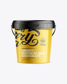 400g Plastic Bucket With Handle And Tamper Evident Lid Mockup. Preview
