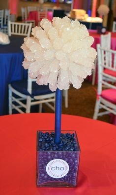 Rock Candy Centerpiece www.idealpartydecorators.com