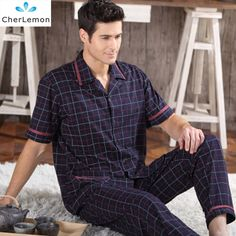 Friendly Free Shipping Mens Plus Size Short Sleeve Shorts Sleepwear Set Soft 100% Cotton Pajamas Nightgown Summer Homewear 5xl Turn Down Underwear & Sleepwears Men's Sleep & Lounge