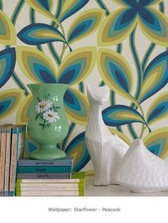 Starflower - Peacock - Starflower c.1967 - Retrospective Papers - Shop by Collection - Wallpaper