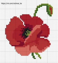 123 Cross Stitch, Small Cross Stitch, Cross Stitch Flowers, Cross Stitch Charts, Modern Cross Stitch Patterns, Cross Stitch Designs, Cross Stitching, Cross Stitch Embroidery, Pixel Crochet