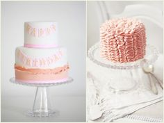 gorgeous pink birthday cakes