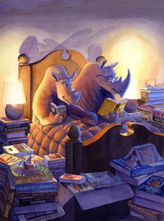 Rhinoceri in Bed by Michael Dashow