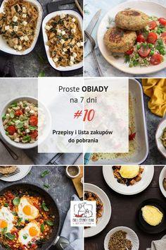 Proste obiady na 7 dni #10 - Przepisy na obiady w PDF z listą zakupów! Halloumi, Healthy Recipes, Healthy Food, Risotto, Chilli, Meal Planning, Curry, Meals, Dinner