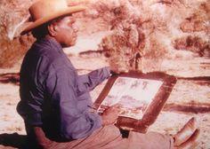 Albert Namatjira painting Aboriginal History, Aboriginal Culture, Aboriginal Artists, Aboriginal People, Indigenous Australian Art, Indigenous Art, Australian Artists, Australian Painting, Watercolor Landscape