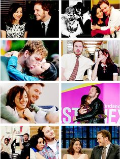 """Aubrey Plaza and Chris Pratt  """"Chris Pratt is the husband I never had in real life. Really, I just love him so much and I've learned a lot from him. He makes every day so fun. He's really the best.""""  """"For the lucky few people who get a chance to know her, […] she's very caring and sweet and a good listener. She would be there for her friends in a heartbeat."""""""