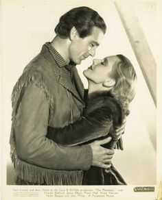 Gary Cooper and Jean Arthur for The Plainsman directed by Cecil B. DeMille, 1936
