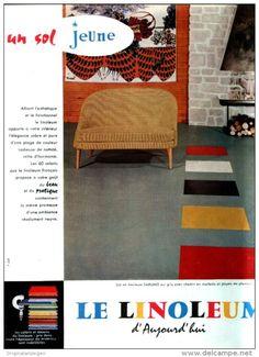 Original-Anzeige /Publicité 1957 - (en français) LE LINOLEUM - ca. 200 x 270 mm