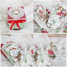 www.basiabartoszewicz.pl Exploding Boxes, Mixed Media, Gift Wrapping, Gifts, Paper Wrapping, Presents, Wrapping Gifts, Gifs, Gift Packaging