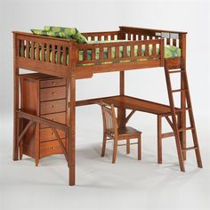 Night and Day Furniture Three Piece Spices Ginger Loft Bed - Home Furniture Showroom $716