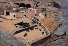 Old Harbour, Hermanus by Pierneef South African Artists, Nautical Art, African History, Artist At Work, Landscape Art, Art History, Watercolor Art, Art Projects, Old Things