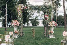 Свадьба Александра и Александры в итальянском стиле, свадебная арка