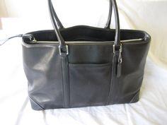 Vintage Coach Black XL Hamptons Shopper Work Satchel by CLASSYBAG