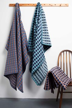 Cosy up with one of our new vibrant lambswool blankets this winter whilst adding a flash of colour to your home. The colourful blocks that