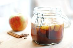 Apple Spice Bourbon Infusion. Just the thing for those cool autumn days.