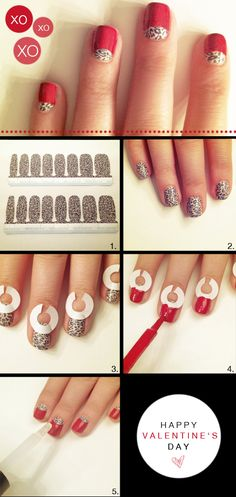 DIY red and leopard mani tutorial