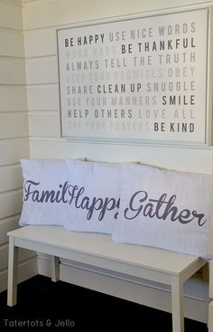Free Family Rules modern printable at tatertos and jello.