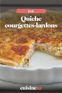 La quiche courgettes et lardons est une pâtisserie salée à servir en entée chaude.  #recette#cuisine#quiche #sale #courgette #lardon#patisserie #ete