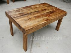 Easy To Make Pallet Wood Dining Table - Pallet Furniture