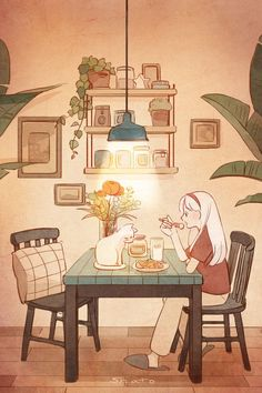 Image shared by tomatoro. Find images and videos about beautiful, art and illustration on We Heart It - the app to get lost in what you love. Japon Illustration, Cute Illustration, Cartoon Kunst, Cartoon Art, Aesthetic Anime, Aesthetic Art, Aesthetic Drawing, Arte Do Kawaii, Art Mignon