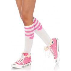 RŮŽOVOBÍLÉ PODKOLENKY SE SRDÍČKY LEG AVENUE Extra sladké podkolenky pro  zamilované! Suprové dámské podkolenky v b7299e437d