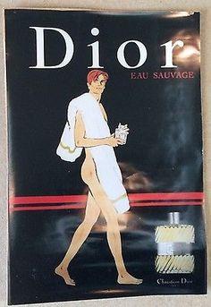 "AFFICHE PUB : Parfum ""Eau Sauvage"" Circa 1990"