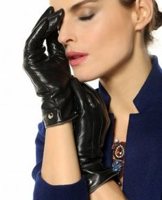 Elma Women's Touch Screen Italian Nappa Leather Winter Texting Gloves Pure Cashmere Warm Lining1